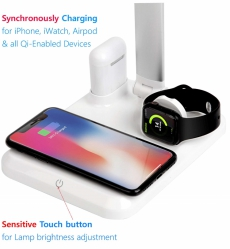 Apple Mate Desk Lampe mit Qi Wireless Charger für iPhone, AirPods