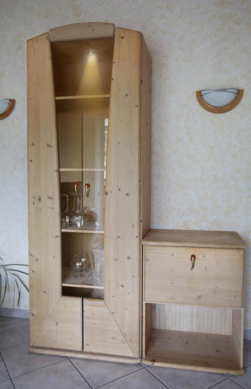 Interio Wohnwand Holzmassiv Buche hell