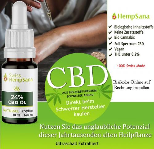 Biologisch natvies CBD Öl direkt vom Bio Bauer.