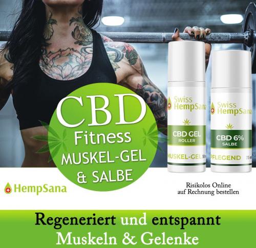 CBD Massage Salbe & Muskel Gel (extra hoher CBD Gehalt)